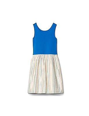 GAP Girls Blue Shimmer Skirt Tank Dress