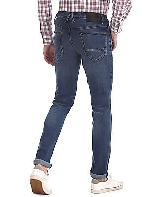 Arrow Sports Blue Justin Skinny Fit Washed Jeans