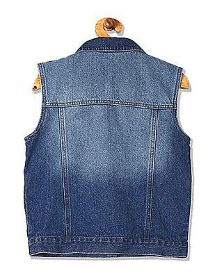 Cherokee Girls Sleeveless Denim Jacket