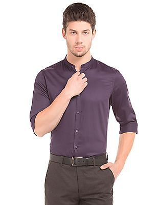 Elitus Slim Fit Mandarin Collar Shirt