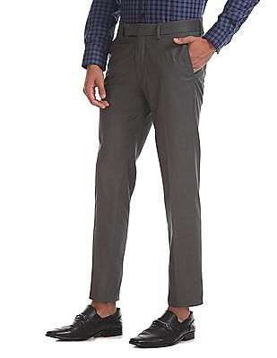 USPA Tailored Super Slim Fit Flat Front Trousers