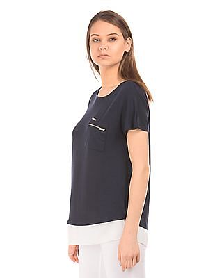 EdHardy Women Sheer Hem Boxy Top