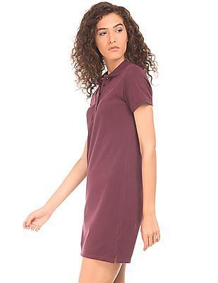 Aeropostale Solid Pique T-Shirt Dress