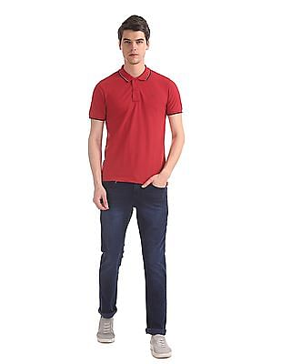 Ruggers Red Tipped Pique Polo Shirt