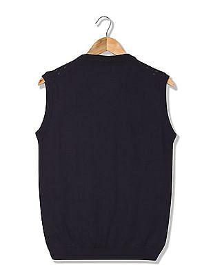 Arrow Newyork Patterned Front Sweater Vest