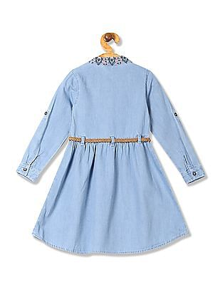 Cherokee Girls Belted Shirt Dress