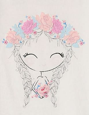 GAP Toddler Girl Graphic Tulip Sleeve T-Shirt