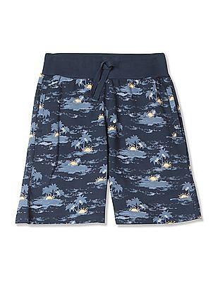 FM Boys Boys Drawstring Waist Printed Shorts