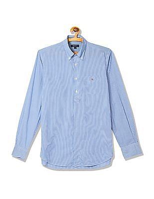 Gant Pinstripe Poplin Long Sleeve Button Down Shirt