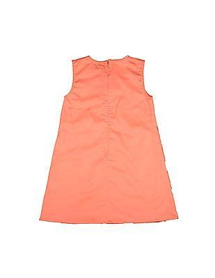 U.S. Polo Assn. Kids Girls Floral Lace A-Line Dress