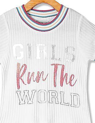 Cherokee Girls Crew Neck Graphic T-Shirt