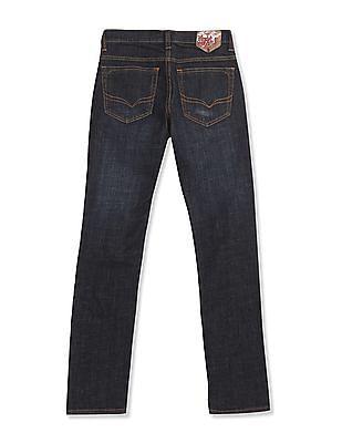 Flying Machine Women Blue Veronica Skinny Fit Glitter Print Jeans