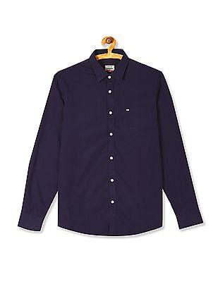Arrow Sports Long Sleeve Solid Shirt