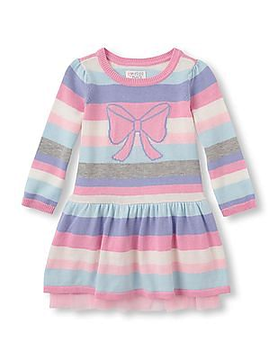 The Children's Place Toddler Girl Bow Sweater Dress
