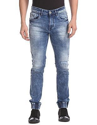 Flying Machine Mid Rise Jogger Jeans