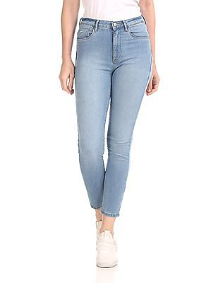 Flying Machine Women Blue Veronica Skinny Fit Stone Wash Jeans