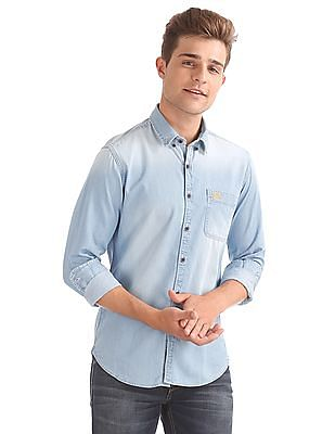 U.S. Polo Assn. Denim Co. Slim Fit Stone Wash Shirt