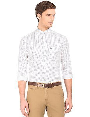 U.S. Polo Assn. Button Down Collar Printed Shirt