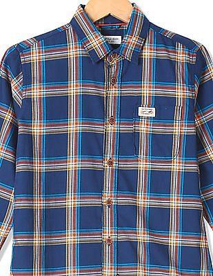 U.S. Polo Assn. Kids Boys Regular Fit Checked Shirt