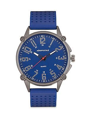 Aeropostale Silicone Strap Chronograph Watch