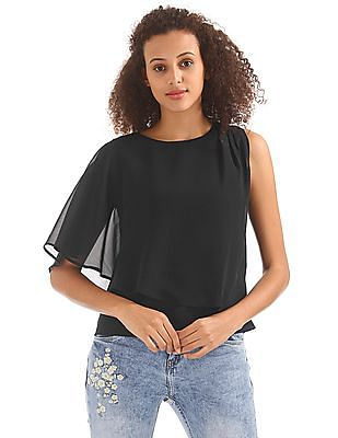 Elle Studio Layered Woven Top