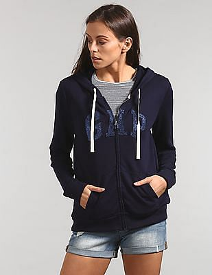GAP Logo Applique Hooded Sweatshirt