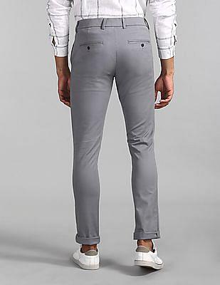 GAP Grey Modern Khakis In Skinny Fit With GapFlex