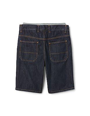 GAP Boys Blue Layered Denim Shorts