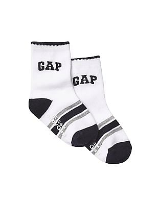 GAP Baby White Athletic Logo Socks