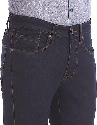Arvind Skinny Fit Dark Wash Jeans