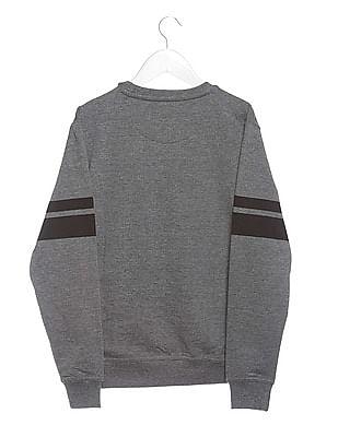 FM Boys Boys Crew Neck Graphic Print Sweatshirt