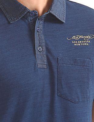 Ed Hardy Slim Fit Slub Polo Shirt