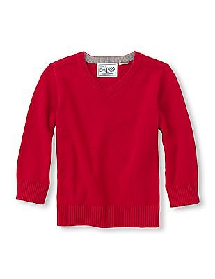 The Children's Place Toddler Boy Solid V-Neck Sweater