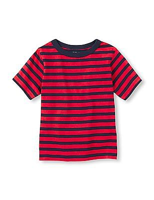 The Children's Place Toddler Boy Short Sleeve Striped Basic Tee
