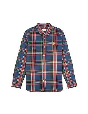 U.S. Polo Assn. Kids Boys Check Cotton Shirt
