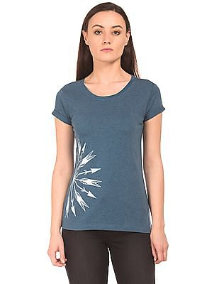 Cherokee Printed Front Round Neck T-Shirt