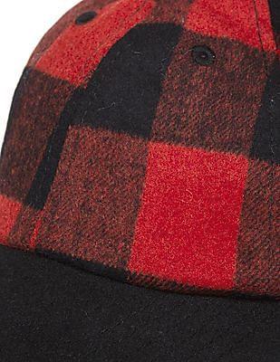 Aeropostale Wool Check Baseball Cap