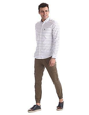 U.S. Polo Assn. Regular Fit Patterned Striped Shirt