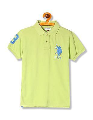 U.S. Polo Assn. Kids Boys Solid Knit Polo Shirt