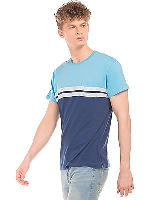 Aeropostale Crew Neck Colour Block T-Shirt
