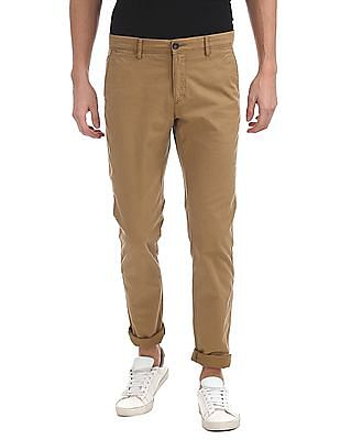 U.S. Polo Assn. Austin Slim Fit Solid Trousers