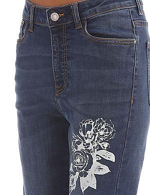 Flying Machine Women Embellished Skinny Jeans