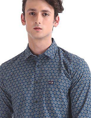 U.S. Polo Assn. Denim Co. Slim Fit Floral Print Shirt
