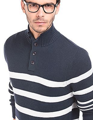 Nautica Striped Regular Fit Sweater