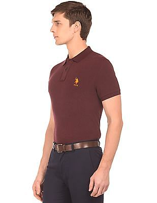 U.S. Polo Assn. Heathered Slim Fit Polo Shirt
