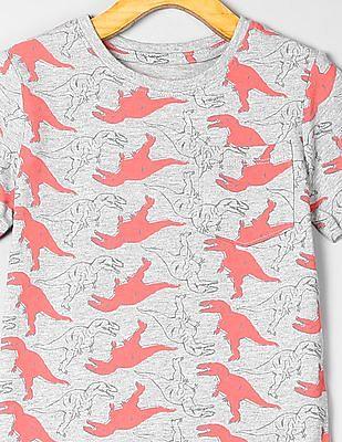 GAP Toddler Boy Print Pocket Short Sleeve T-Shirt