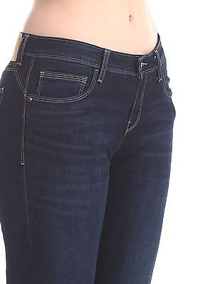 Cherokee Blue Ankle Length Skinny Fit Boomerang Jeans