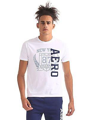 Aeropostale Contrast Graphic Crew Neck T-Shirt