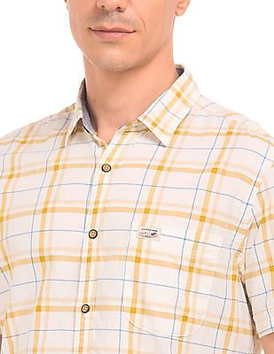 U.S. Polo Assn. Denim Co. Short Sleeve Check Shirt