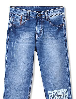 Cherokee Boys Slim Fit Whiskered Jeans